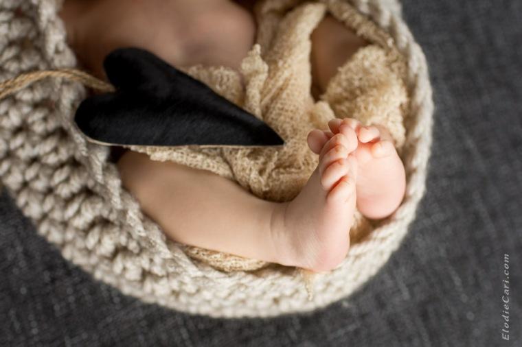 pieds bébé coeur