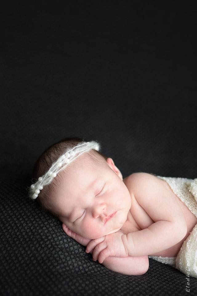 bébé princesse dodo noir blanc