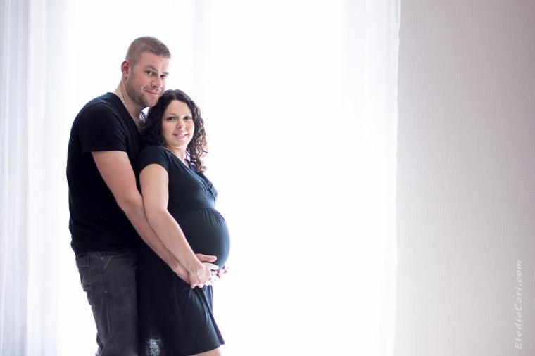 rideau couple grossesse contrejour