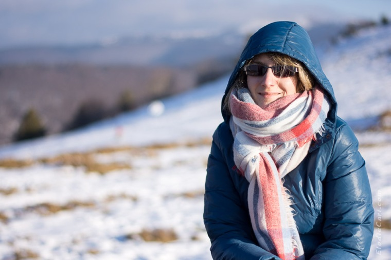 montagne hiver écharpe soleil