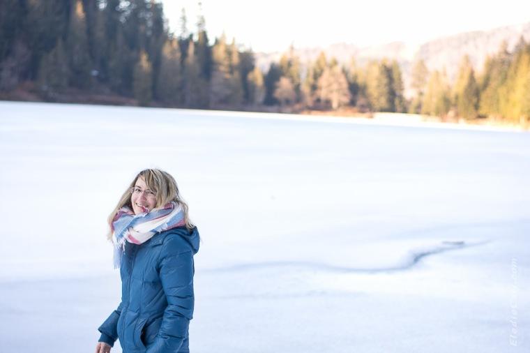 marche glace soleil hiver