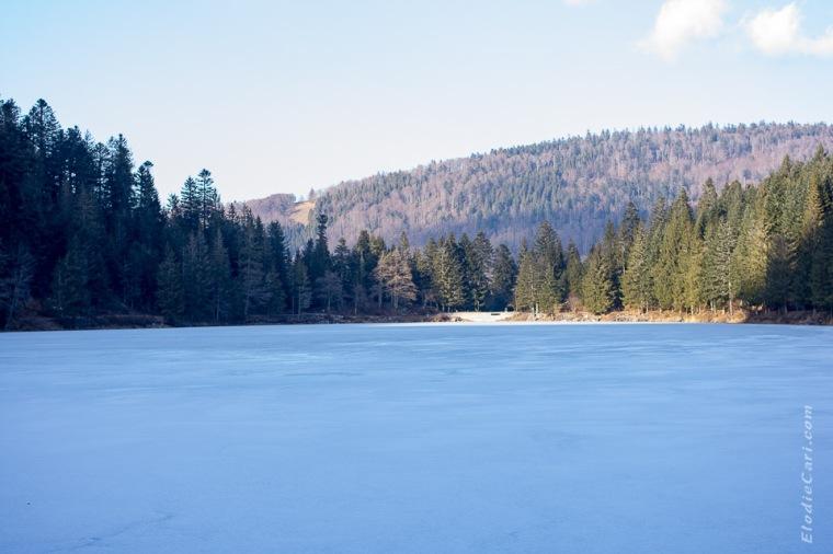 lac hiver soleil glace