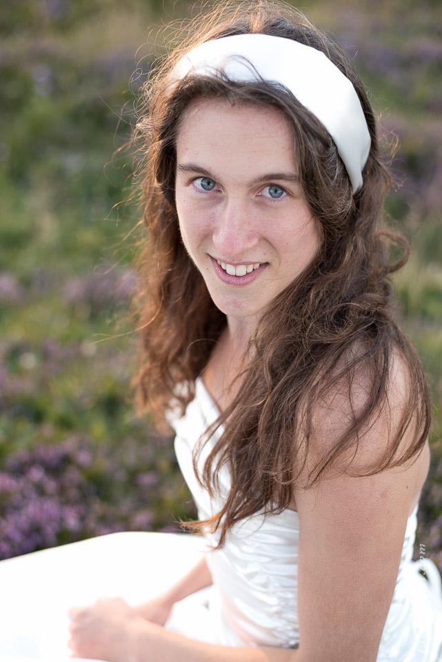 photographe robe mariée portrait soir