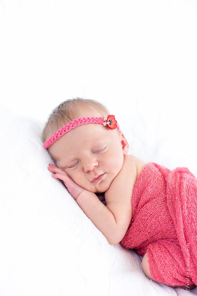 bébé coquelicot bandeau headband corail