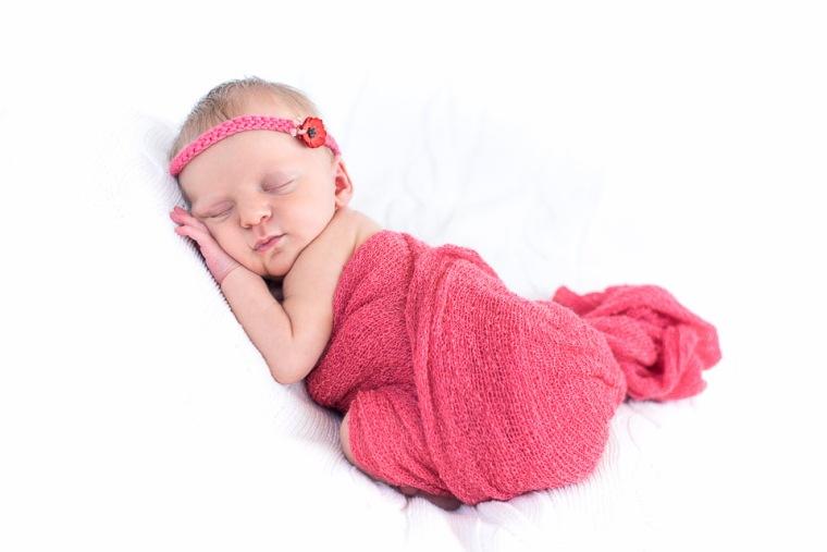 bébé dodo pose bandeau coquelicot corail fille