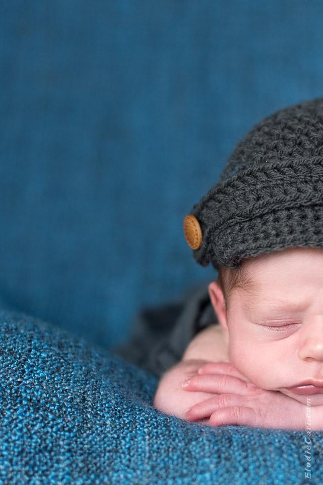 demi bébé casquette bouton