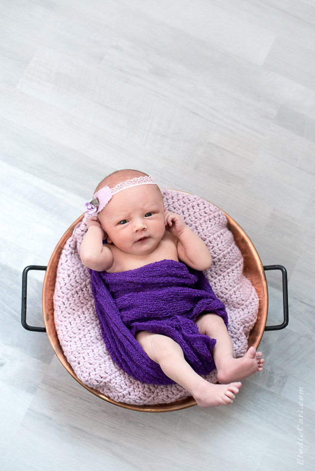 bébé marmite confiture rose violet headband bandeau fleur